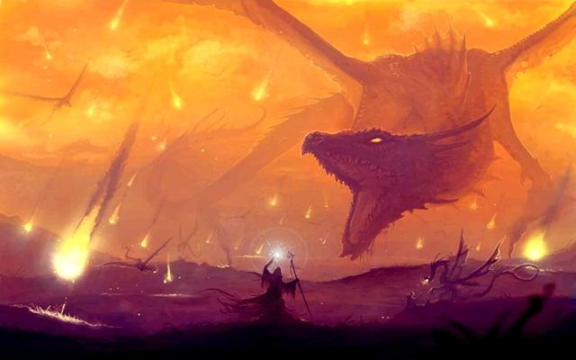 Обои для рабочего стола арт дракон