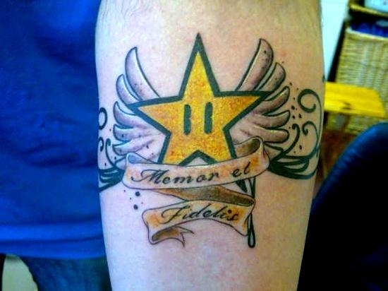 20 sparkling examples of star tattoos inspirebee for Sparkling star tattoo
