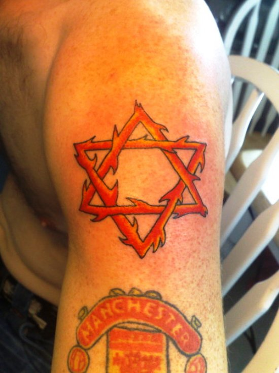 Flaming Star Tattoo