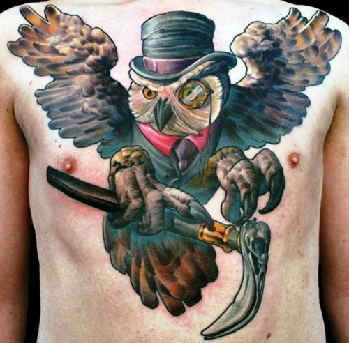 A Fresh Collection of Cool Chest Tattoos