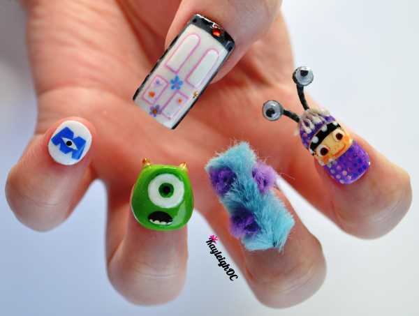 monsters inc 3d nail art - Hot Designs Nail Art Ideas