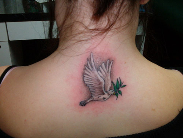 The Back Neck Dove Tattoo