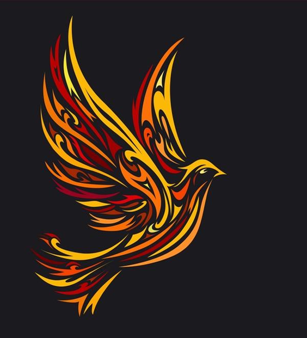 Fire Dove Tattoo