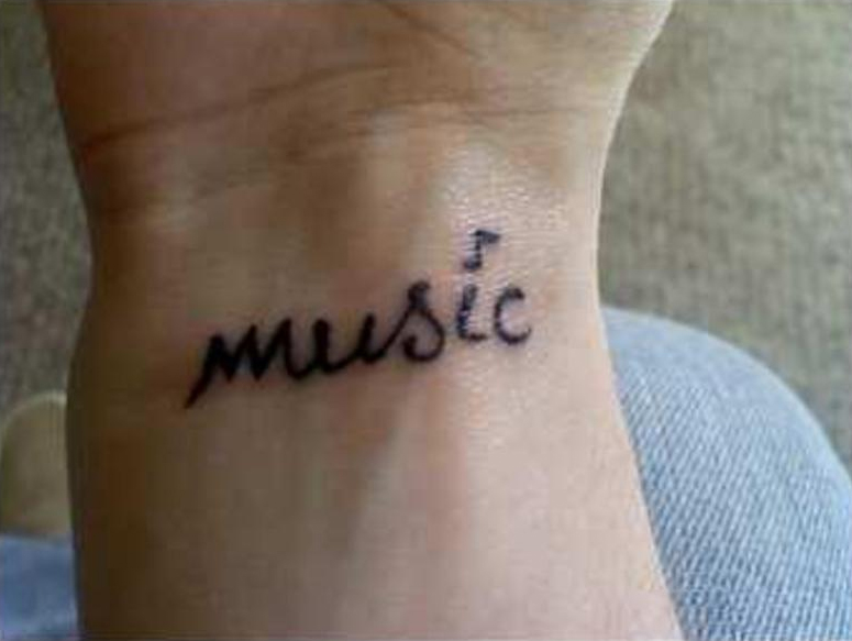 Music Word Tattoo