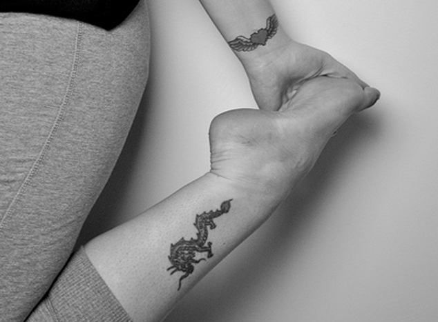 Cute Wrist and Leg Tattoo