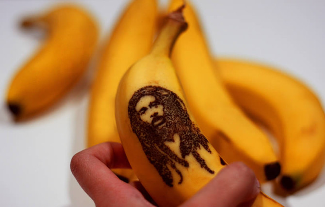 Bob Marley and James Dean on Banana