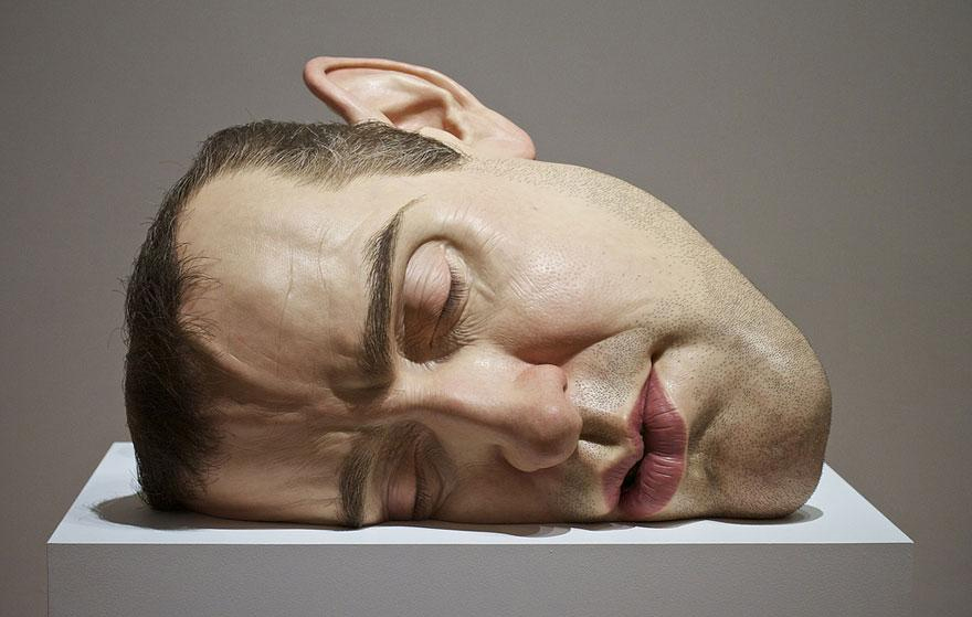 Big Face Sculpture