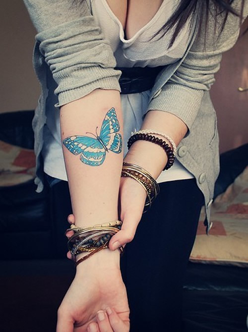 The Delicate Butterfly Tattoos