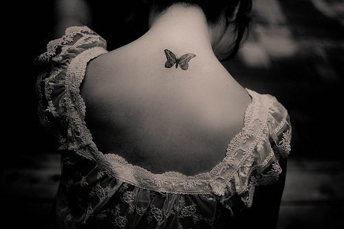 Butterfly on Neck