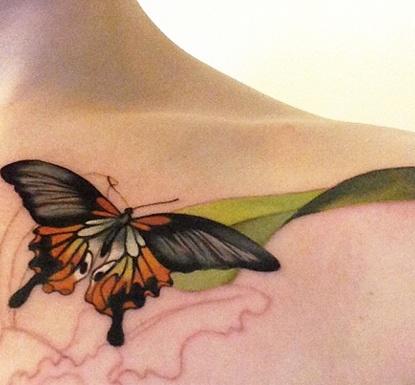 Butterfly Under Neck