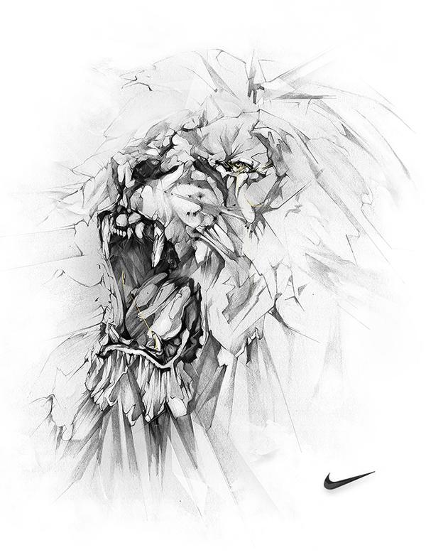 Illustrated Lion