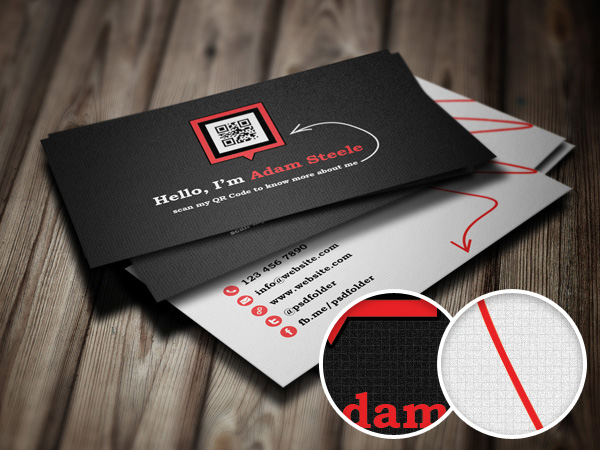 Scan my QR Code Business Cards