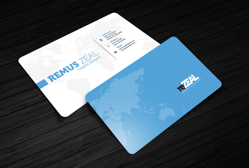 Free Business Card Template – reZEAL
