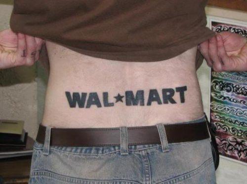 Wal mart tattoo