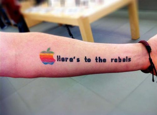 Apple tattoo 3