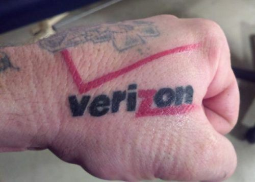 Verizon Tattoo