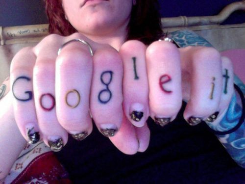 Google It Tattoo