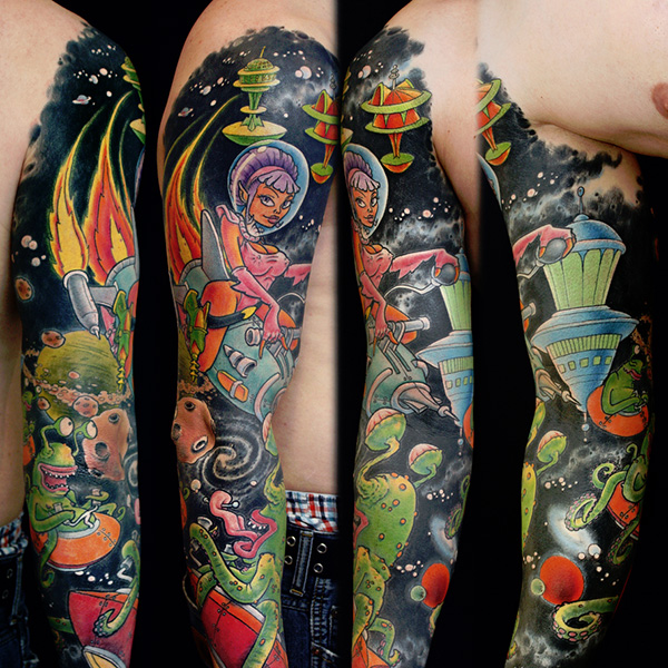 Multicolor Sleeve Tattoo