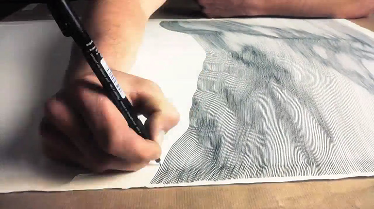 Drawing Lines Freehand : Free hand drawing by john franzen inspirebee