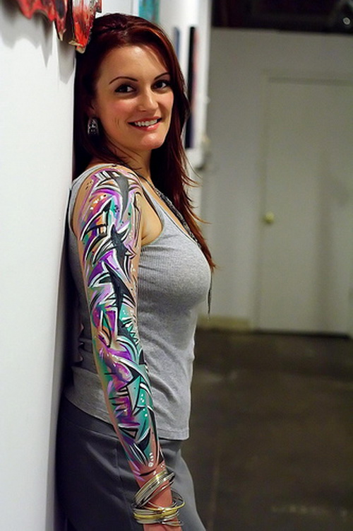 Girl Sleeve Tattoo