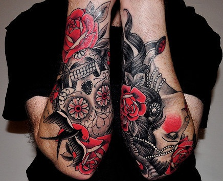 Red Sleeve Tattoo
