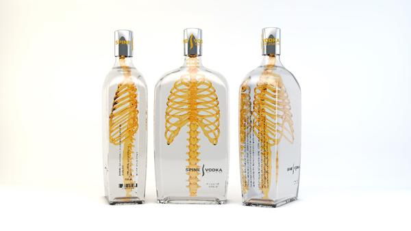 Spine Vodka Packaging