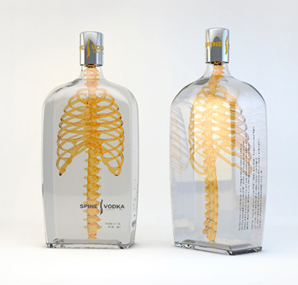 Great Packaging Design of Spine Vodka by Johannes Schulz