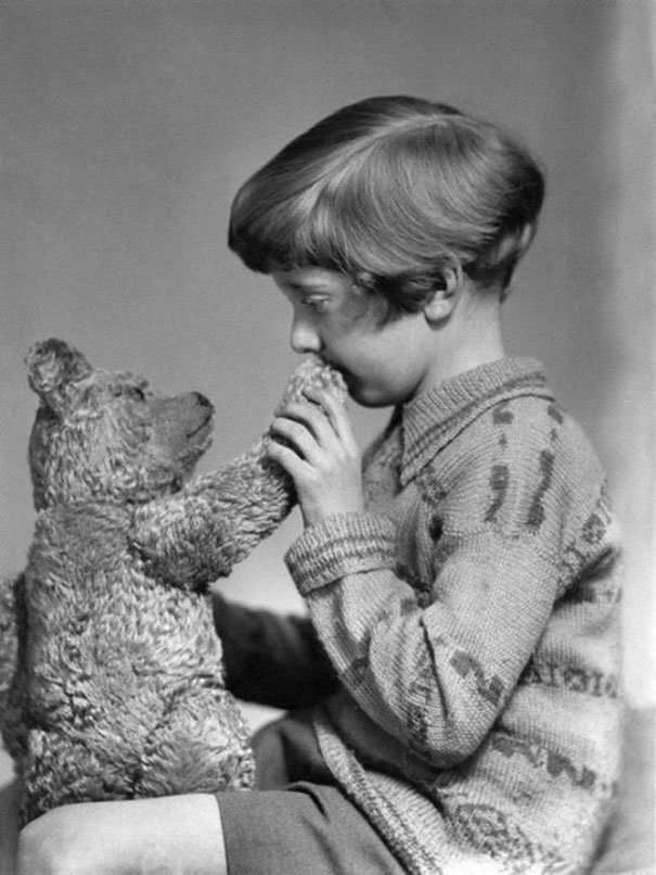 The real Winnie the Pooh and Christopher Robin, ca. 1927