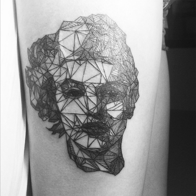 Amazing Line Art Tattoo by Diana Karsko
